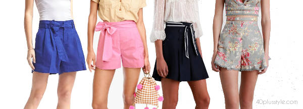 the latest high waisted flare shorts | 40plusstyle.com