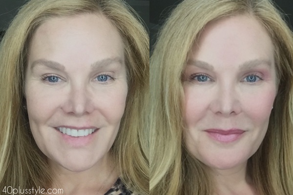 Flattering makeup over 40 before and after looks | 40plusstyle.com