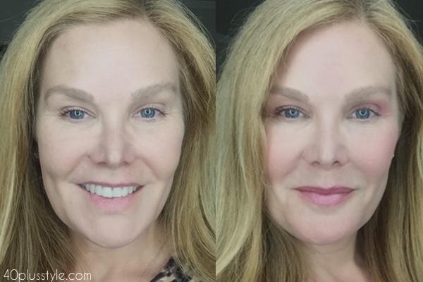 "How to create a flattering, natural ""no makeup"" makeup look over 40."