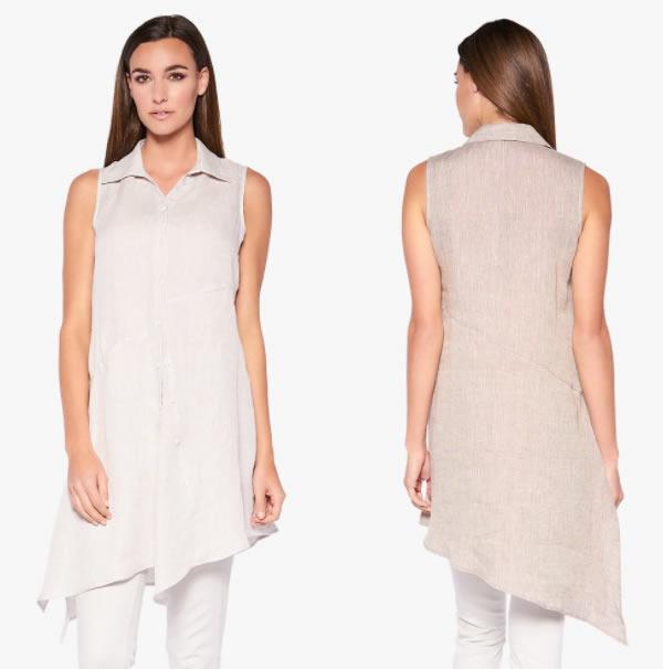 Long asymmetrical blouse | 40plusstyle.com