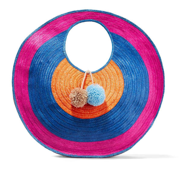 Round raffia tote bag by Sophie Anderson | 40plusstyle.com