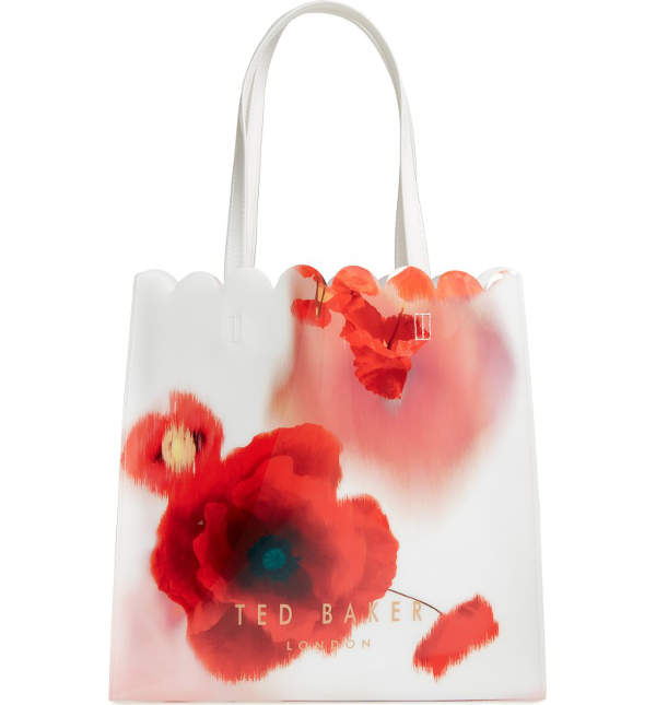 Ted Baker folding tote bag | 40plusstyle.com