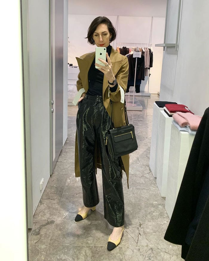 trench coat for a night-out | 40plusstyle.com