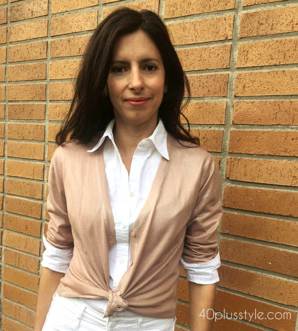 how to style a cardigan for women over 40 in spring and summer | 40plusstyle.com