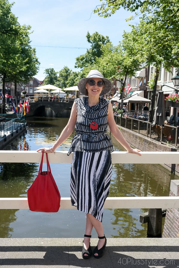 Keep cool with a chic striped skirt! | 40plusstyle.com