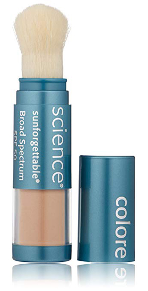 Sunforgettable brush on sunscreen with SPF50   40plusstyle.com