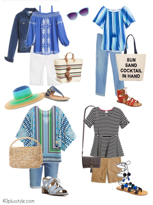 Casual outfits for cruise ship day trips | 40plusstyle.com