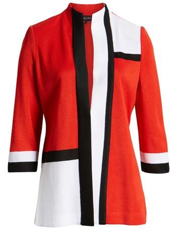 Ming Wang knit jacket | 40plusstle.com
