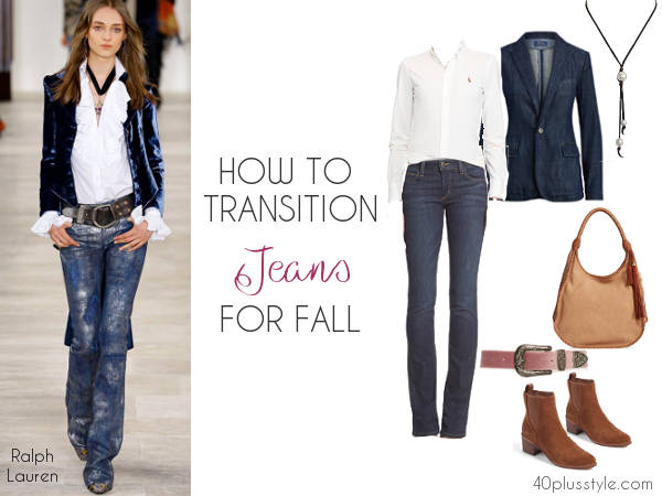how to wear jeans for fall | 40plusstyle.com