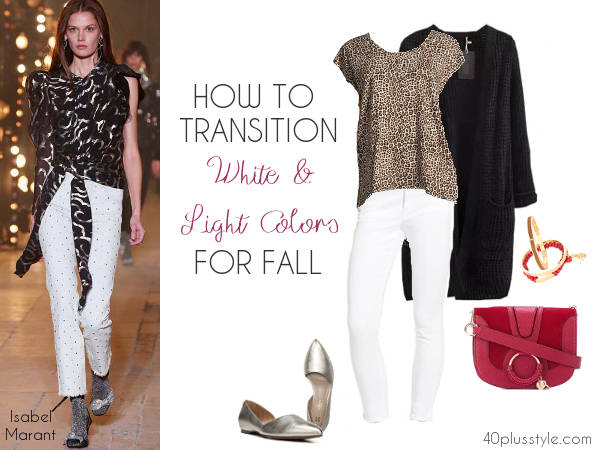 how to wear white in the fall | 40plusstyle.com