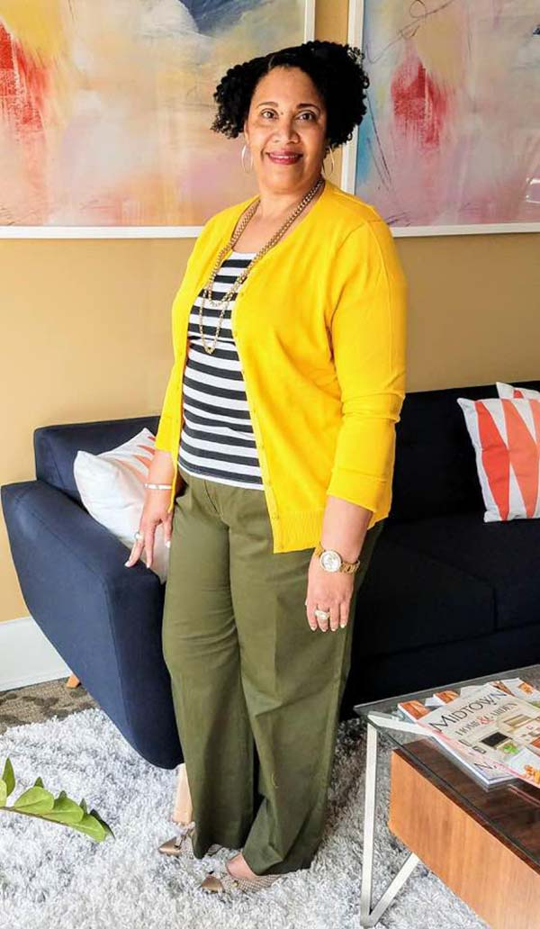 Bright yellow outfits for women over 40 | 40plusstyle.com