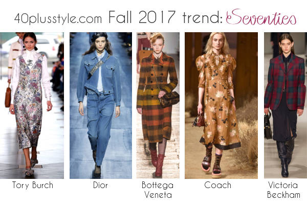 fall 2017 seventies fashion trend | 40plusstyle.com