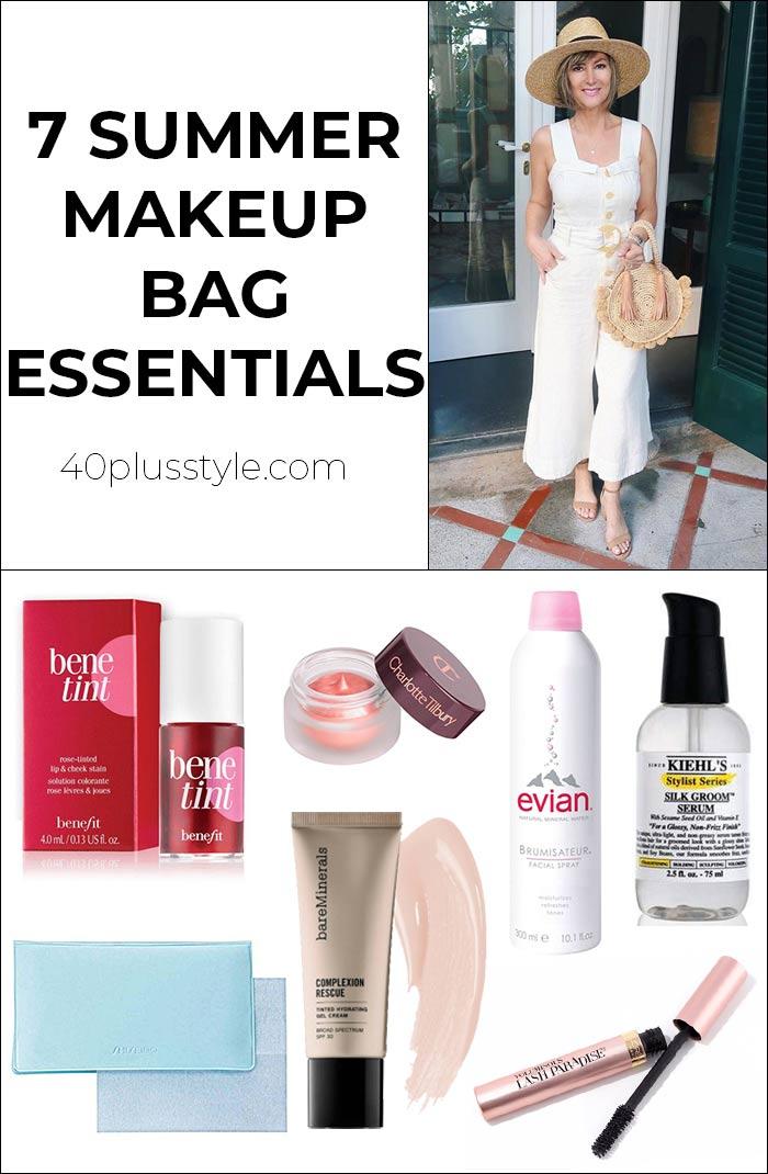 7 summer makeup bag essentials | 40plusstyle.com