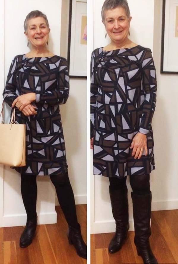 Stylish in prints and leggings   40plusstyle.com