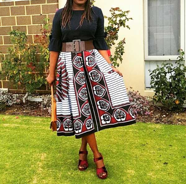 Bold printed skirts are great for most occasions!   40plusstyle.com