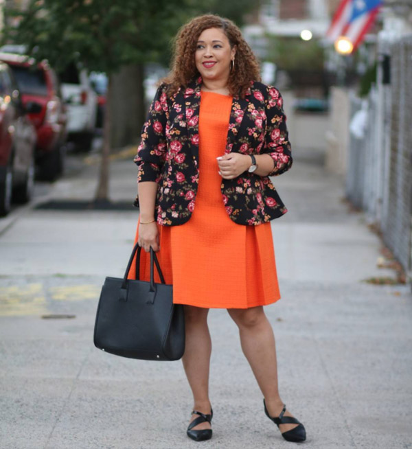 Feminine and edgy with a floral blazer   40plusstyle.com