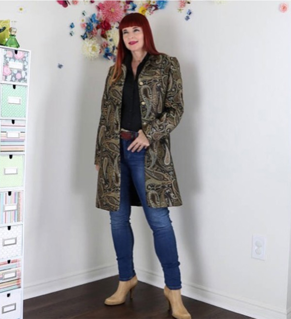 printed paisley coat | 40plusstyle.com