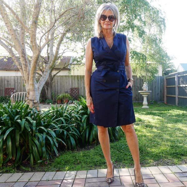 Wrap dress with a stylish heel   40plusstyle.com