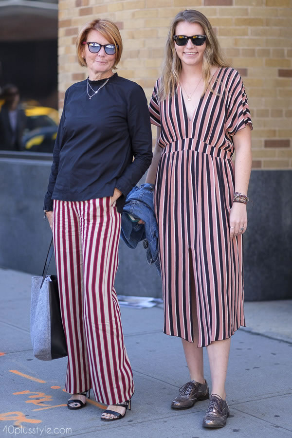 Benga striped pants and dress | 40plusstyle.com