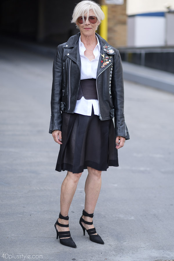 Edgy outfit ideas from New York | 40plusstyle.com