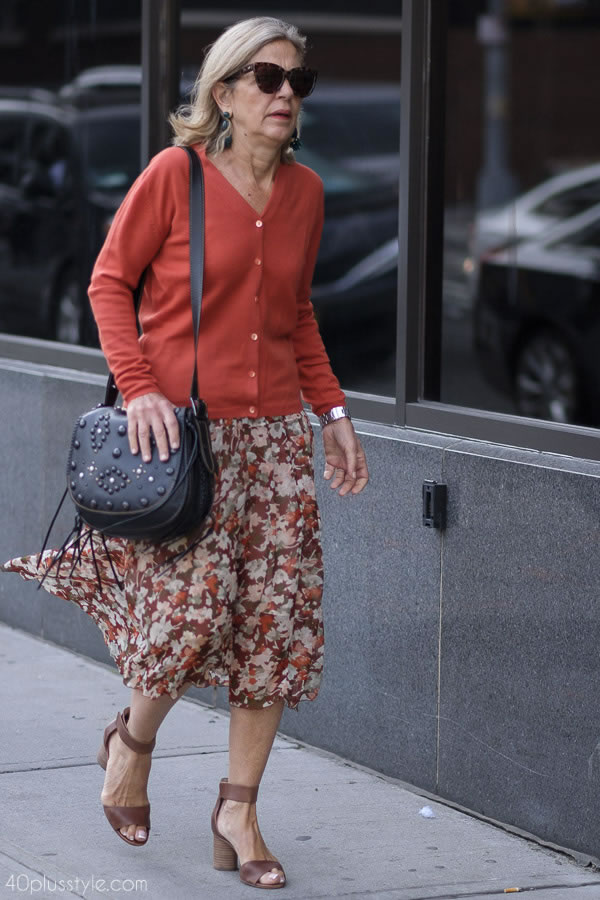Floral skirts | 40plusstyle.com