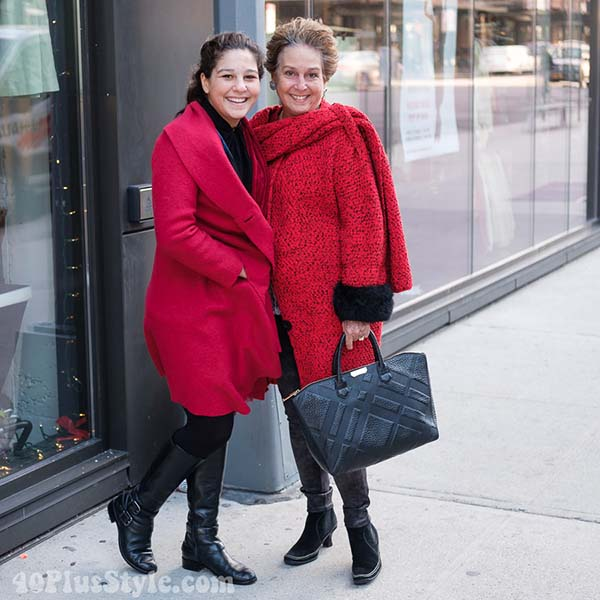 Ideas on red outfits for winter | 40plusstyle.com