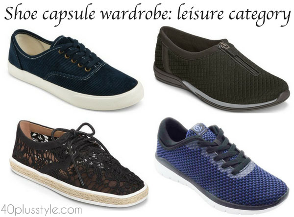Building a shoe capsule wardrobe: leisure category
