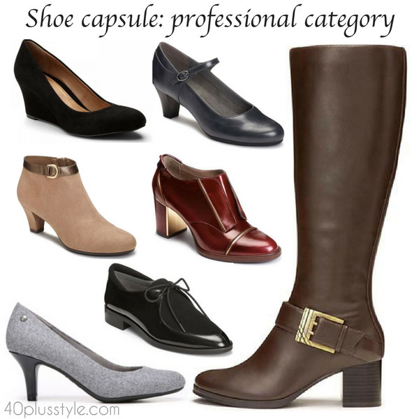 Building a shoe capsule wardrobe: professional category