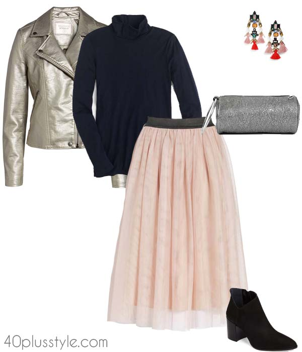 Pastel outfits for a christmas party   40plusstyle.com
