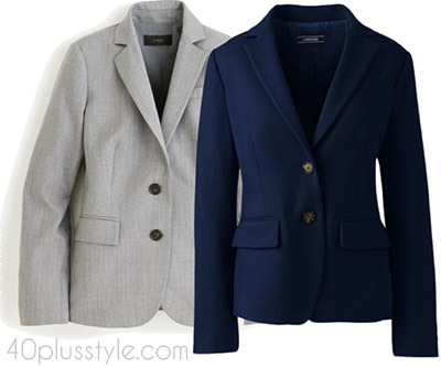 Items to splurge on: a classic blazer | 40plusstyle.com