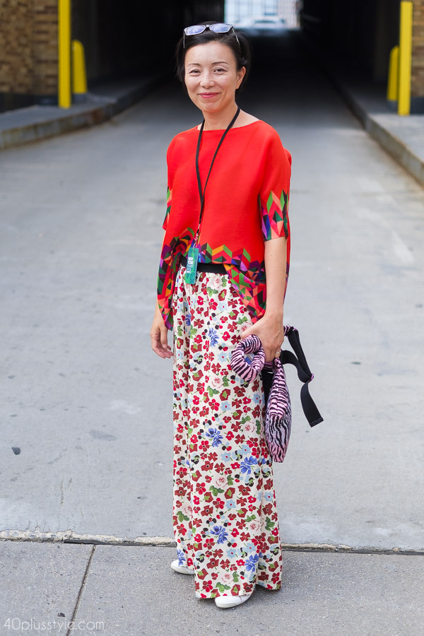 A fun and refreshing way to wear print! | 40plusstyle.com