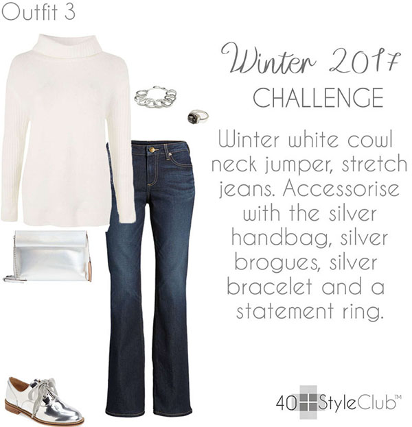 Outfit ideas with silver brogues | 40plusstyle.com
