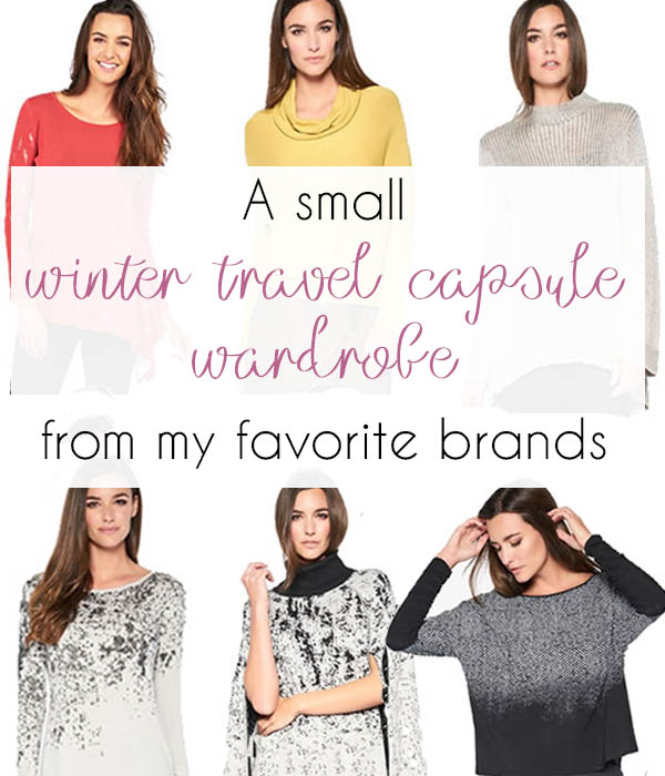 A small winter travel capsule wardrobe | 40plusstyle.com