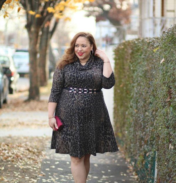 Cowl neck dress | 40plusstyle.com