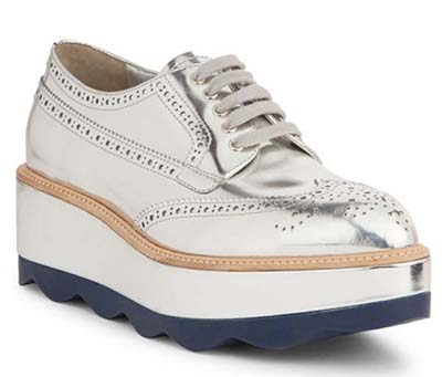 Silver prada shoes | 40plusstyle.com