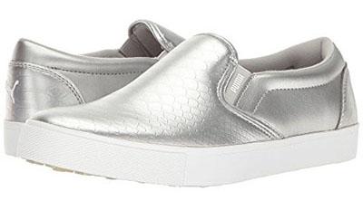 puma slip-pn silver shoes | 40plusstyle.com