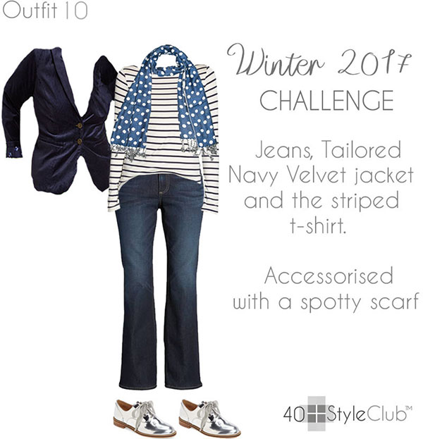Stylish winter and holiday party outfits for women featuring silver shoes   40plusstyle.com