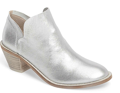 stylish silver booties shoes | 40plusstyle.com