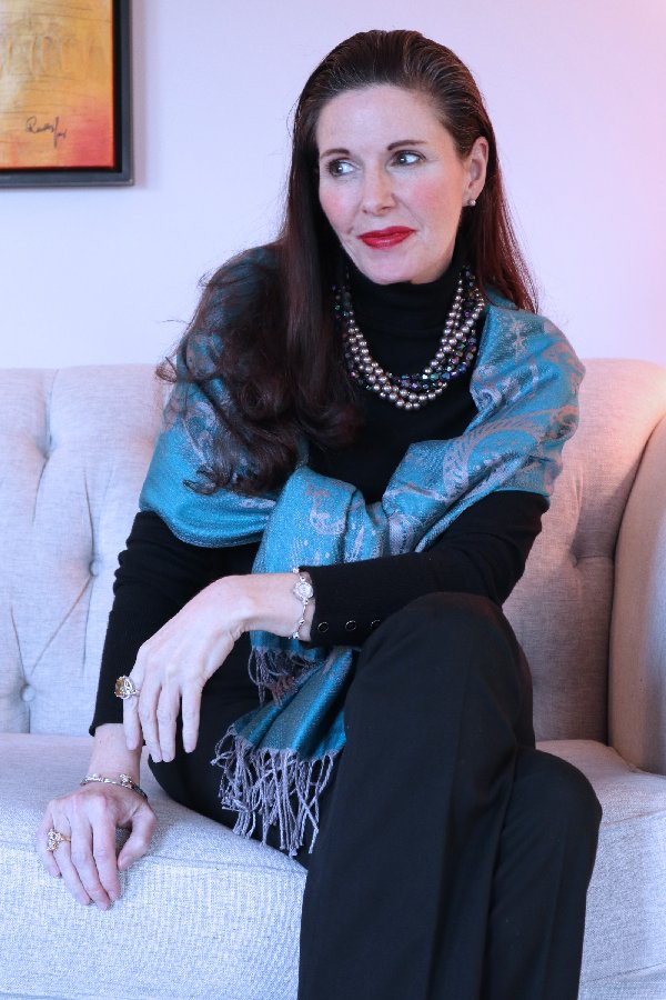Elegant looks with a pashmina   40plusstyle.com