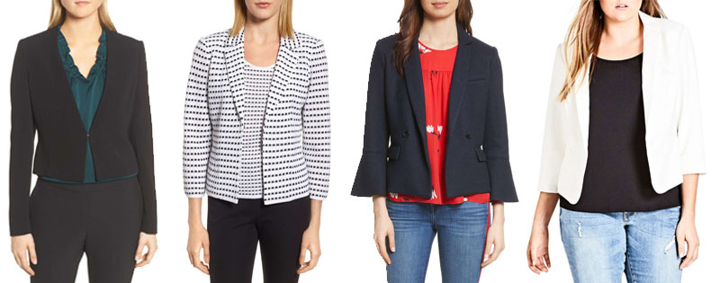 Cropped length blazers | 40plusstyle.com