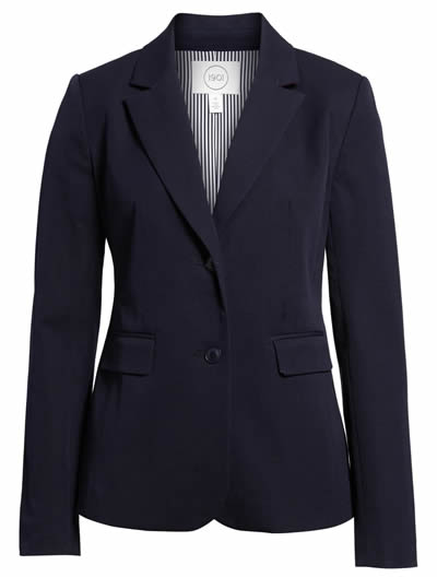 Cotton stretch blazer