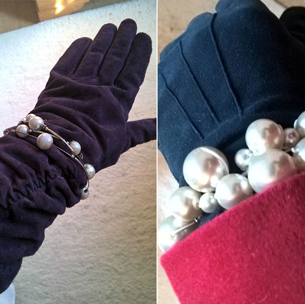 Gloves with pearl accessories | 40plusstyle.com