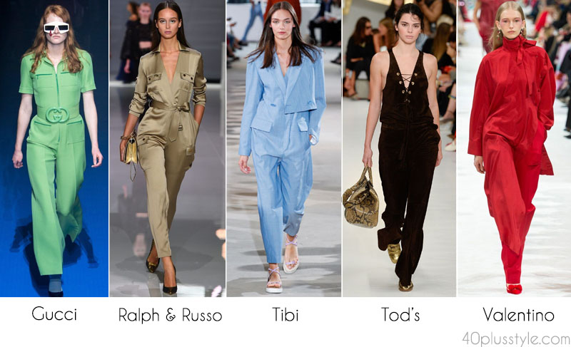 Stylish jumpsuit from the runway for women over 40 | 40plusstyle.com
