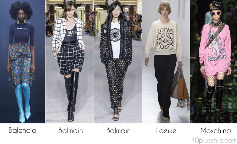 2018 Style forecast: Logo themed clothes | 40plusstyle.com