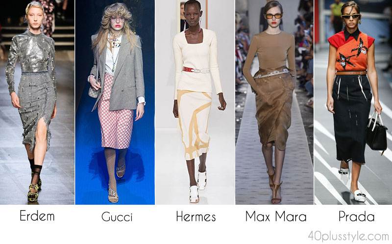 2018 fashion trends for women over 40: Pencil skirts | 40plusstyle.com