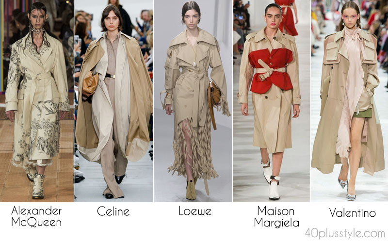 Spring 2018 trench coats with a twist | 40plusstyle.com