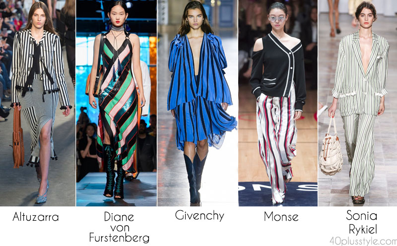 Vertical stripes and the lates Spring and Summer trends | 40plusstyle.com