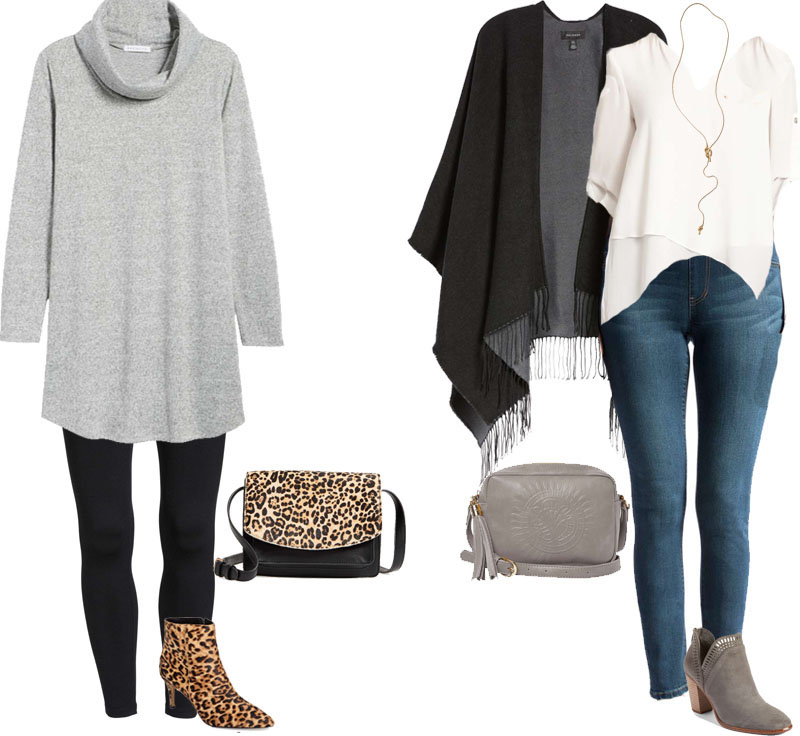 Outfit ideas on how to style leggings during winter | 40plusstyle.com