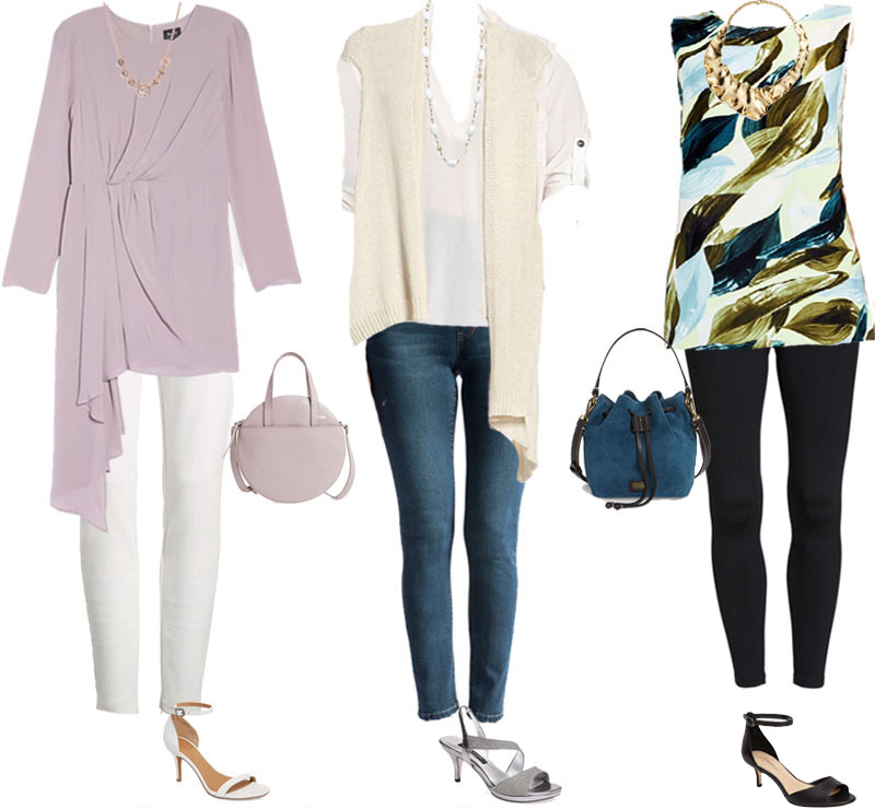 Stylish outfit ideas on how to style leggings | 40plusstyle.com