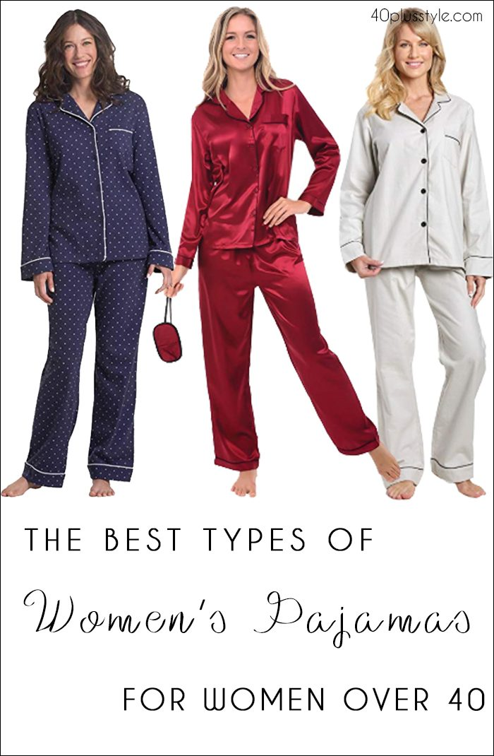 best pajamas for women over 40 | 40plusstyle.com
